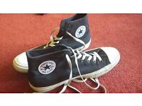 Converse (men's size 10) in black and white. Chuck Taylor 2 style