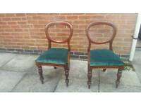 2 victorian balloon chairs