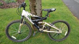 "Boys 14"" gold mountain bike"