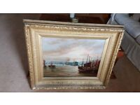 antique oil painting, original frame, signed and dated by listed artist