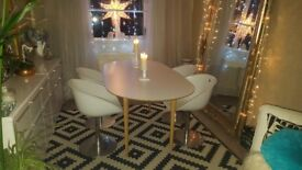 Original mid century chairs x 4 and newer table