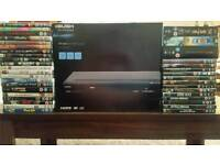 HDMI dvd player with 50 dvds
