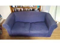 Blue 2/3 seater sofa fold out sofa bed