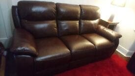 Harveys 3 seater leather recliner sofa