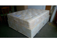 Double bed with orthopaedic mattress and 4 drawers