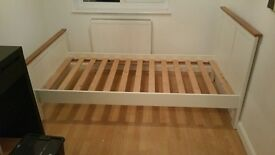 Single bed and mattress and other bedroon furniture