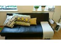 Black sofabed for collection