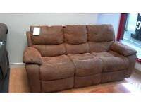 3 seat leather recliner sofa - British heart foundation