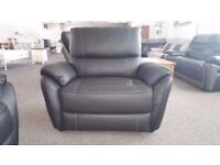 Ex Display SCS Teo Black Leather Armchair **CAN DELIVER**