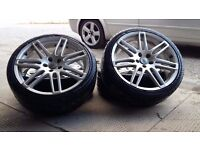 set of 4 alloys wheels 19' 5x112 audi VW mercedes ford