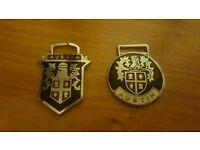 Austin cars metal key fob badges