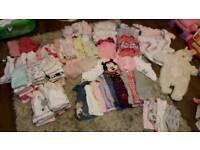 Baby girls clothes newborn to 3 moths