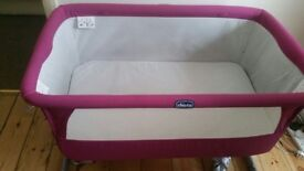 Chicco Next 2 Me Bedside Crib and new fitted sheets