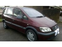automatic 7 seater vauxhall zafira 1.8 club cheap