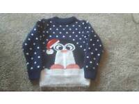 Girls TU Christmas Jumper 5yrs