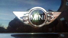 mini one seven car in black 2006 56 plate very low genuine mileage only 34000 half leather interior