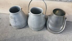Aluminium old milk churns