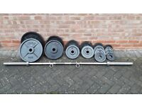 YORK OLYMPIC WEIGHTS SET WITH 7FT OLYMPIC BAR