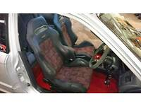 Evo 4 recaro seats with dc2/eg recaro rails