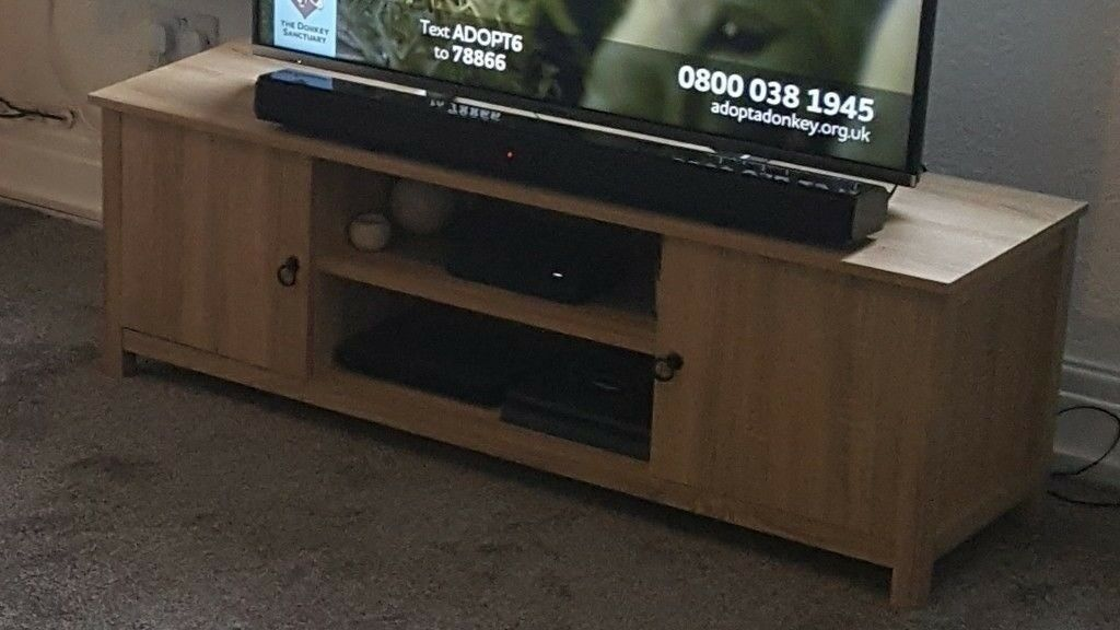 Ash Oak Effect Wood Tv Unit