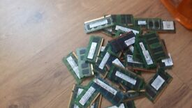 joblot 35 sticks ddr2 laptop 1gb ram