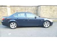 BMW 5 SERIES 2.0 520d AUTO SE 4dr Navy BLUE Black Leather SATNAV FSH