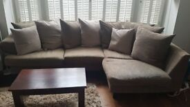 Hand made corner sofa / chaise by Raft furniture - Price reduced!