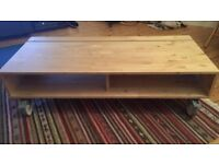 Like new IKEA TV stand in ash; also doubles as a coffee table
