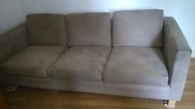 Suede Leather Sofa, grey