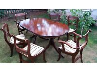 Mander table and 6 chairs dining set