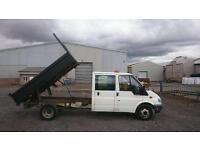 Ford transit LWB double cab tipper