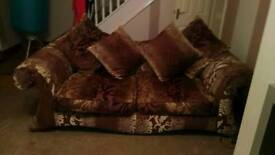 3and4 seater couches and storage footstool
