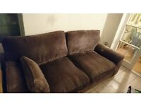 DFS brown material comfy sofa