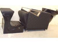 Brand New Black Salon Furniture Hair & Beauty Equipment Back Wash Chair trolley Mirror Stool Job Lot