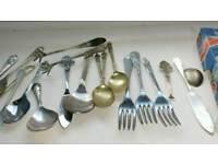 Vintage antique spoons forks knife