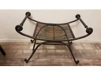 Roman iron chair