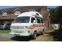 VW T25 1.9 CAMPERVAN CARAVELLE, PETROL, WATER COOLED, 4/5 BERTH, COMPLETELY RESTORED, SUMMER READY