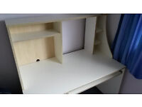 Desk / workstation, roomy, white, Ikea, solid, sturdy, in very good condition, only £55