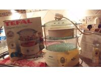 Feel like healhy, quick & easy cooking? Tefal 615717P 2-Tier Aqua Timer Steamer in its original box