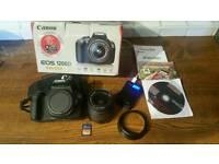 Canon 1200D 18Mpx /18-55mm /4GB MMC/STRAP+CD+BOX........