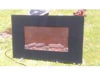 Flame effect electric wall fire, multi settings