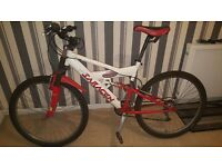 mountain bike for sale comes with air pump and lock and puncture repair kit
