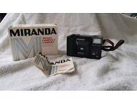 Miranda ME X 35mm film compact range finder flash camera lomo lomography retro vintage pre digital