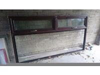Brown PVC window frame double glazing