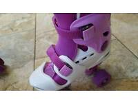 Girls roller boots size 3/4