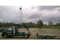 Crane Hire,Transport,Hiab,Small crane,boat,truck mounted,engine,lift,hot tub,lathe,phone box,pallets