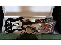 Guitar hero ps2 with guitar hero 2 game