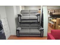 3&2 seater sofa in grey and black tweed fabric £745!