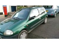 for Sal Renault clio 1.2long mot July 2027