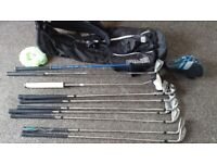 FULL SET OF CLUBS-BAG-PING-TAYLOR MADE-ODYSSEY PUTTER